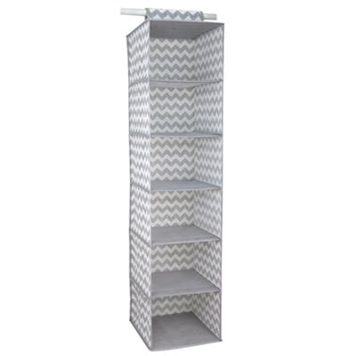 Home Basics Chevron 6-Shelf Closet Hanging Organizer
