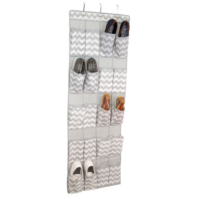 Home Basics Chevron 20-Pocket Over-the-Door Shoe Organizer