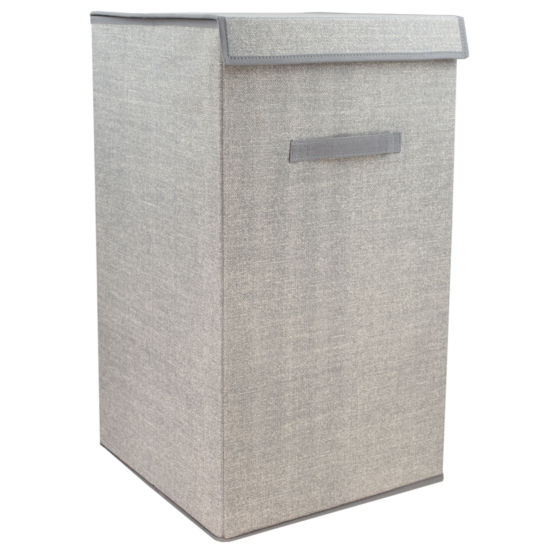 Home Basics Faux Jute Laundry Hamper