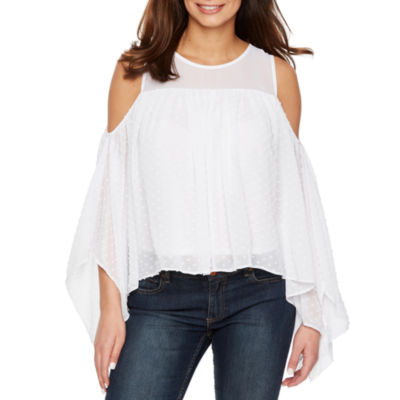 Bold Elements Sleeveless Asymmetrical Cold Shoulder Top