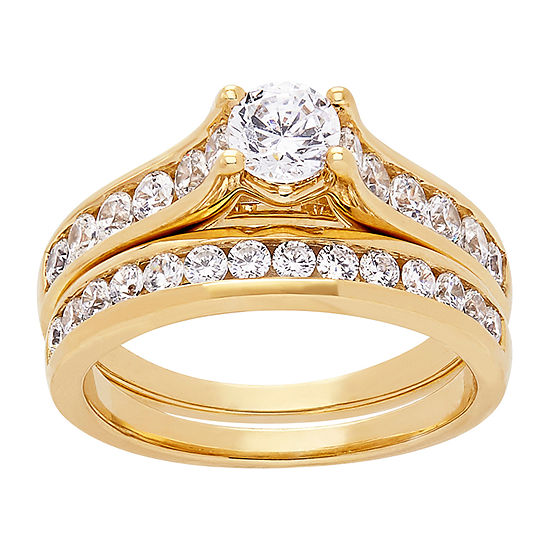 Grown With Love Womens 1 1/2 CT. T.W. Lab Grown White Diamond 14K Gold Bridal Set