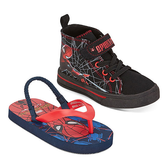 Marvel Spiderman Kids Sneakers and Flip Flops 2 For 1