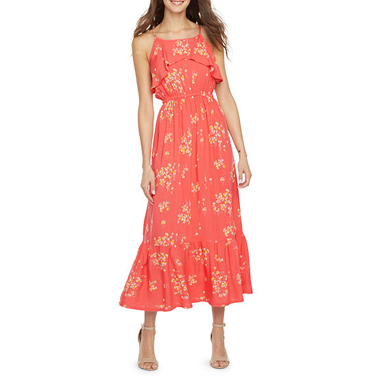 Peyton & Parker Sleeveless Floral Midi Maxi Dress