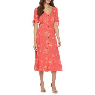 Peyton & Parker Short Sleeve Floral Sundress