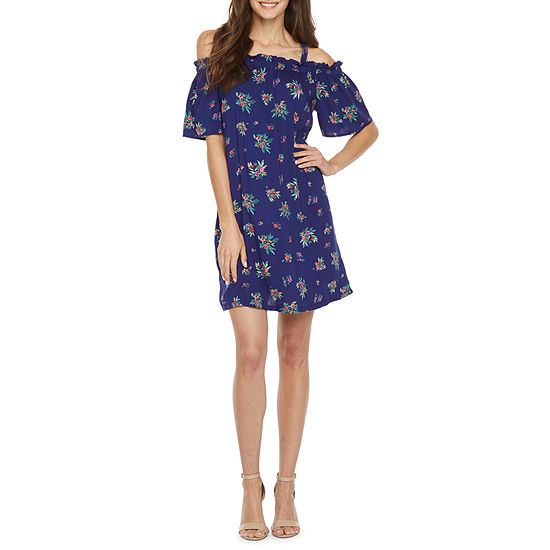 Peyton & Parker Off The Shoulder Floral Shift Dress