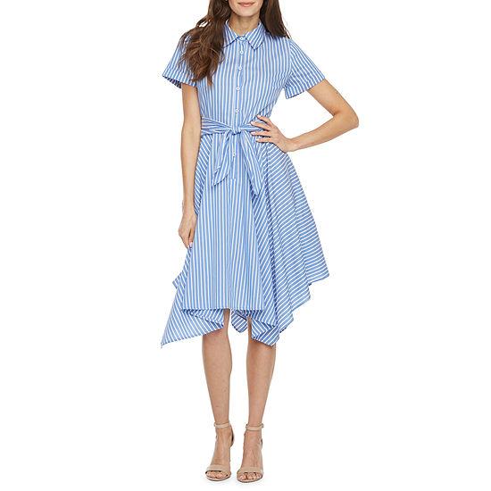 Ivy & Blue Short Sleeve Shirt Dress