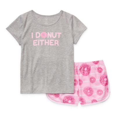 Sleep Chic Little Kid / Big Kid Girls 2-pc. Shorts Pajama Set
