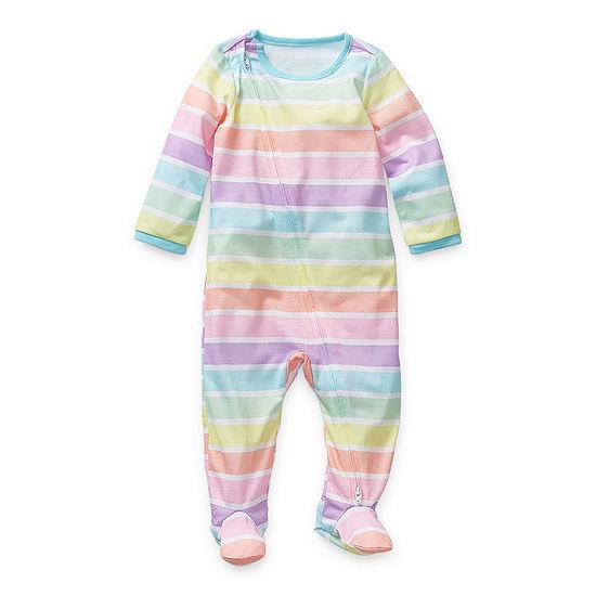 Sleep Chic Baby Girls Long Sleeve One Piece Pajama