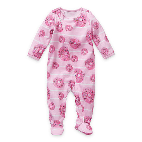 Sleep Chic Baby Girls Long Sleeve One Piece Pajama