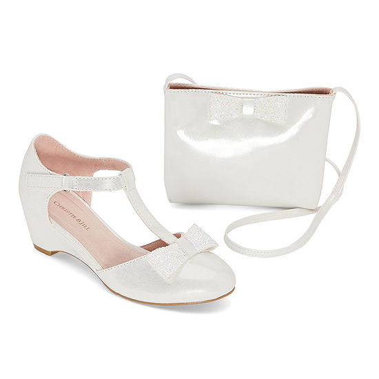 Christie & Jill Big Kids Girls Britt & Bag Wedge Sandals