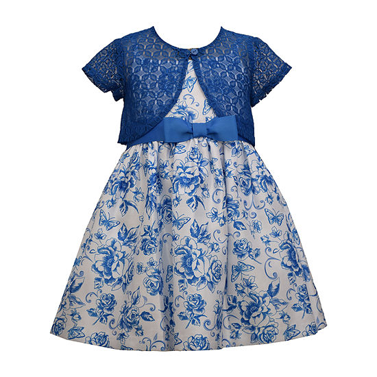 Bonnie Jean Toddler Girls 2-pc. Sleeveless Floral A-Line Dress