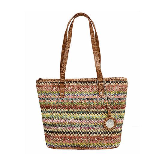 Bueno of California Straw Mid Tote Bag