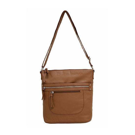 Bueno of California Smooth And Print Grainy Crossbody Bag