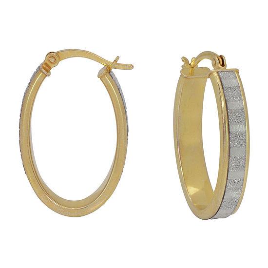 14K Gold Over Silver 27mm Round Hoop Earrings