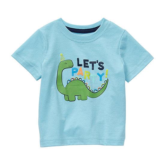 Okie Dokie Baby Boys Crew Neck Short Sleeve Graphic T-Shirt