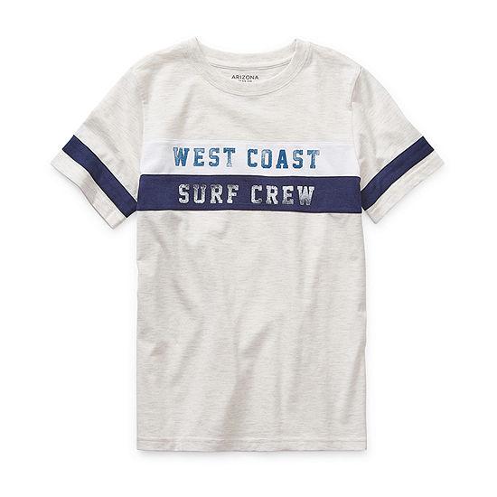 Arizona Little Kid / Big Kid Boys Short Sleeve T-Shirt