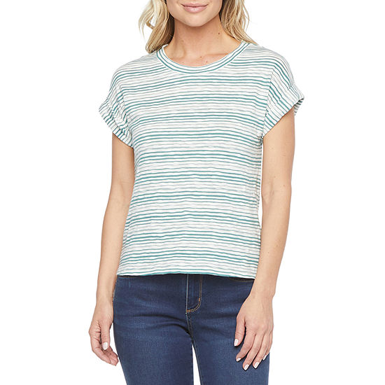 a.n.a Womens Tall Crew Neck Short Sleeve T-Shirt