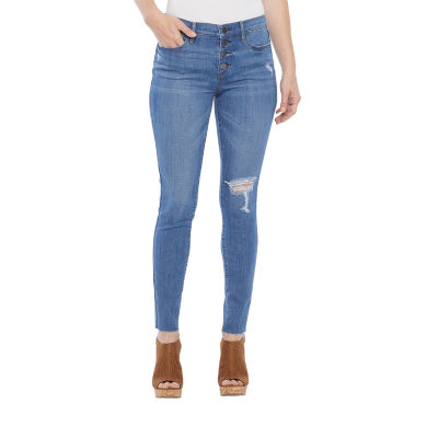 a.n.a Womens High Rise Ripped Skinny Fit Jean