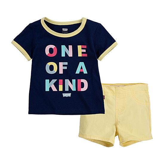 Levi's Toddler Girls 2-pc. Short Set