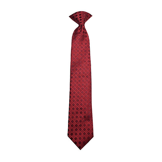 Little & Big Boys Checked Clip on Tie