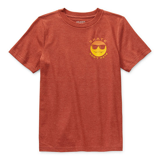 Arizona Little & Big Boys Crew Neck Short Sleeve Graphic T-Shirt