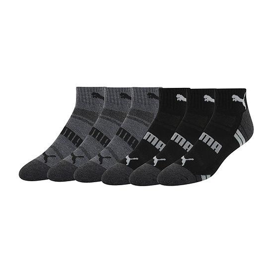 Puma Mens 6 Pair Quarter Socks