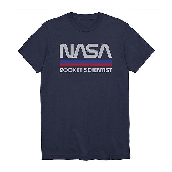 Nasa Rocket Scientist Mens Crew Neck Short Sleeve Graphic T-Shirt