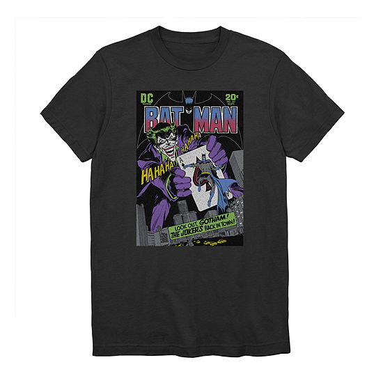 Mens Crew Neck Short Sleeve DC Comics Graphic T-Shirt