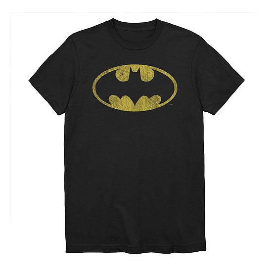 Mens Crew Neck Short Sleeve Batman Graphic T-Shirt