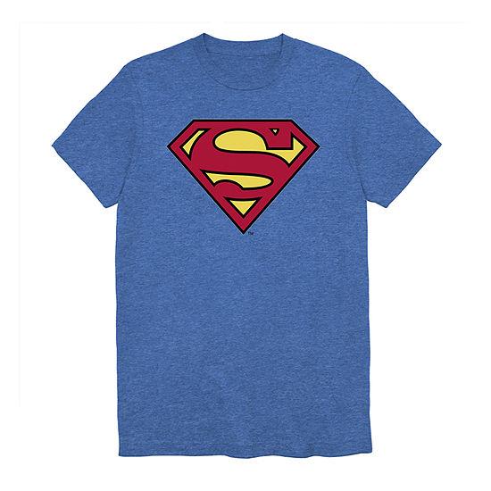 Superman Mens Crew Neck Short Sleeve DC Comics Graphic T-Shirt