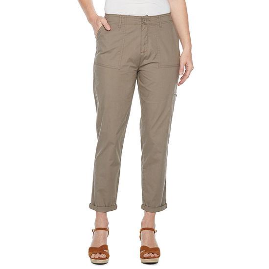Liz Claiborne Mid Rise Cropped Pants