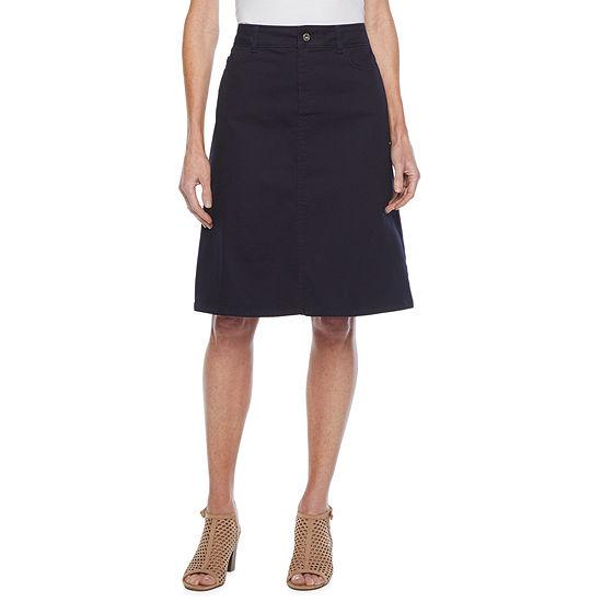 Liz Claiborne Womens Mid Rise A-Line Skirt