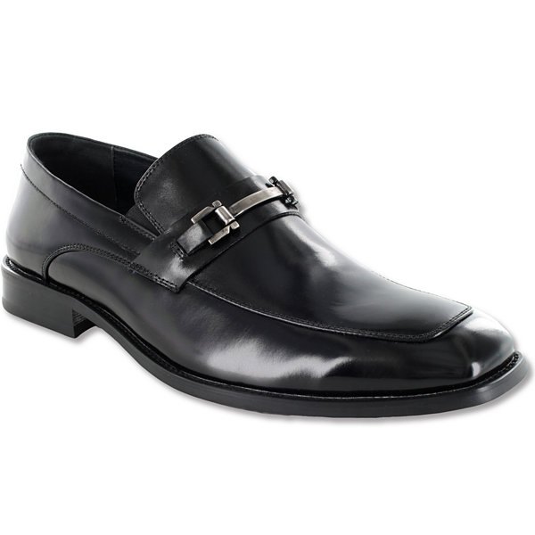Stacy Adams Blake Mens Leather MocToe SlipOn Dress Shoes