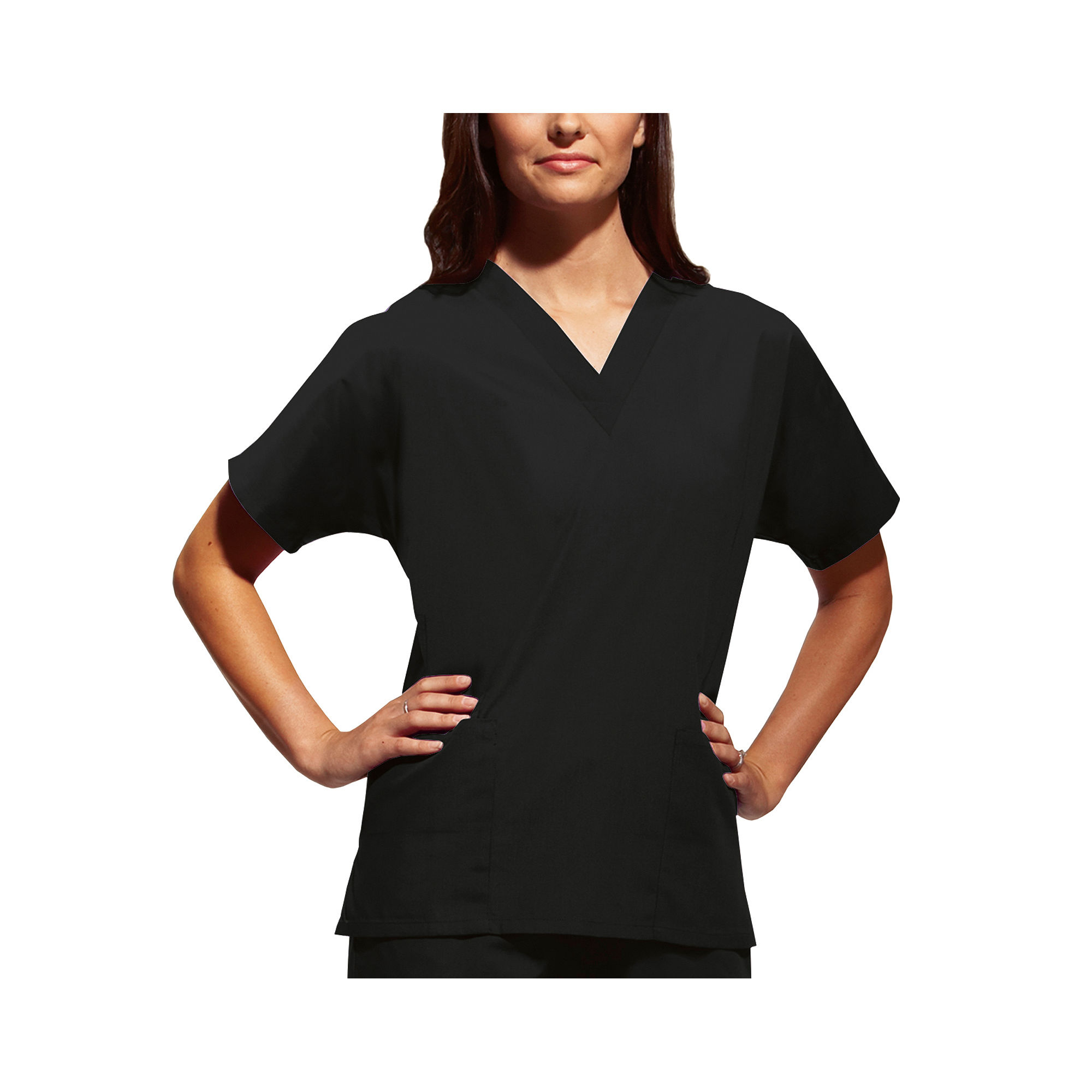 Cherokee Workwear Womens V-Neck Top plus size,  plus size fashion plus size appare