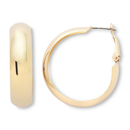 Mixit Gold-Tone Wide Hoop Earrings