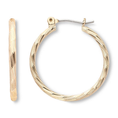 Mixit Gold-Tone, Textured Hoop Earrings