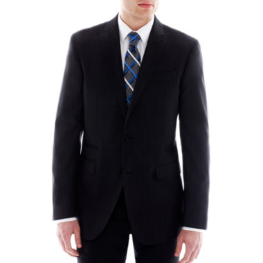 JF J. Ferrar Black Nailhead Slim-Fit Suit Jacket