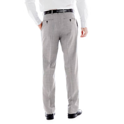 Stafford® Mini Houndstooth Flat-Front Suit Pants - Classic