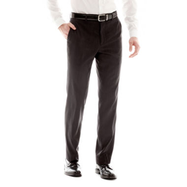 Men's JF J. Ferrar Black Nailhead Slim-Fit Flat-Front Suit Pants