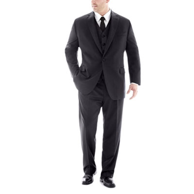 Stafford Black Tuxedo Big and Tall Fit Suit Separates