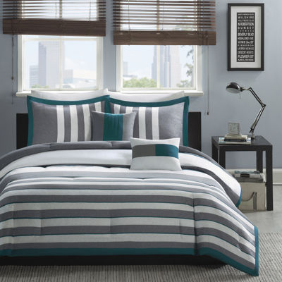 Intelligent Design Anthony Striped Comforter Set