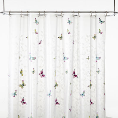 India Ink Butterfly Terrace PEVA Shower Curtain