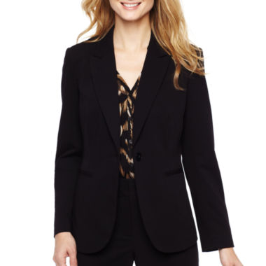 Liz Claiborne® One-Button Peak Lapel Blazer  - Tall