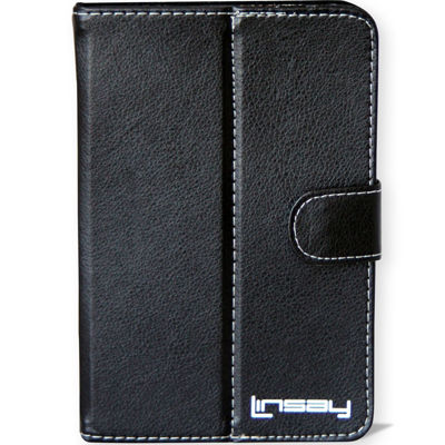 "Linsay® 7"" Hard Leather Protective Tablet Case"