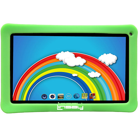"LINSAY 10.1"" Quad-Core 2GB RAM 16GB Android 9.0 Pie Tablet with Kids Defender Case"