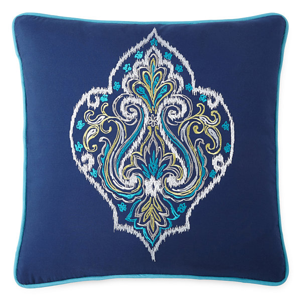 Inspire Jasmine Medallion Square Decorative Pillow