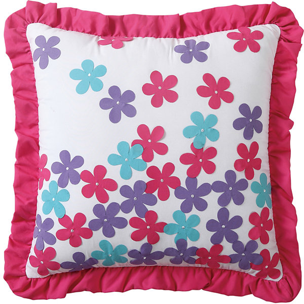 VCNY Amanda Square Applique Decorative Pillow