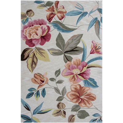 Floral Rectangular Area Rug