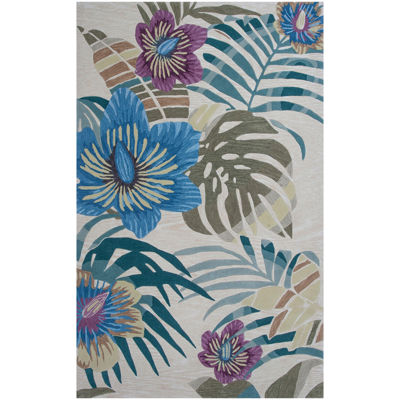 Palm Tree Rectangular Area Rug
