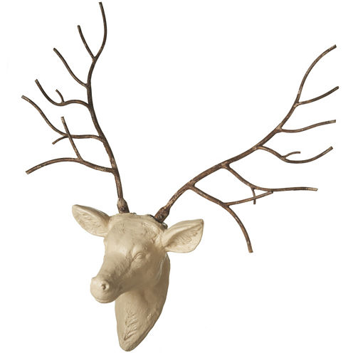 Stag with Iron Antlers Wall Art